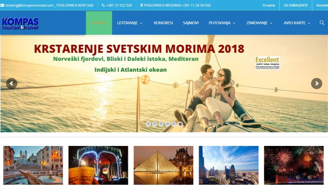 Sad NoviKompas dizajn Web