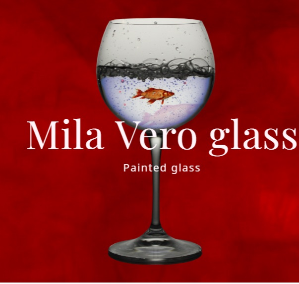 Painted glass – Painted glass by Milana